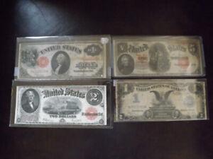 COLLECTION - BILLET D'ARGENT États-Unis - U..S EARLY PAPER MONEY