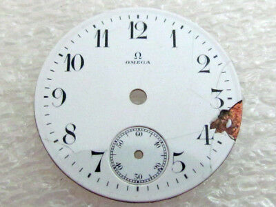 Omega Antique Swiss Original White Porcelain Dial 26.3mm (Watch-face)