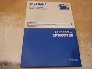 YAMAHA 3000 INVERTOR owners manual