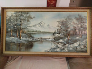 Mountain Landscape signed by artist Benson West Island Greater Montréal image 1