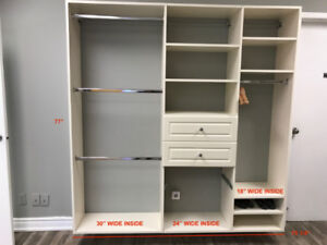 CLOSET SUSPENDED WALL SYSTEM FOR SALE **