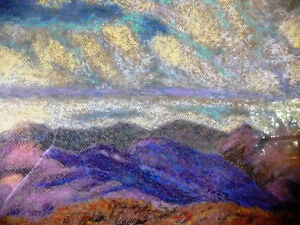 Original British Lake District Pastel by Billie Appleton 1987 Stratford Kitchener Area image 3