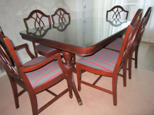 9 Piece Mahogany Knechtel Dining Set With Buffet And Hutch