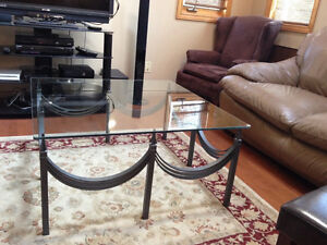 Wrought Iron Coffee Table with Glass Top Belleville Belleville Area image 3