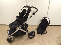 Britax B-Ready double stroller with new frame and second seat