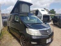TOYOTA ALPHARD CAMPERVAN WITH 3 SEATER ROCK & ROLL BED & SIDE CONVERSION