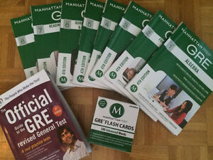 Manhattan Prep GRE Set of 8 Strategy Guides + Official Guide