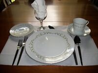 SHEFFIELD DINNER DISHES, SET OF 32