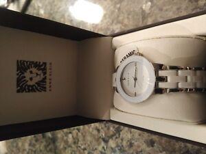 Anne Klein Women's Diamond, SIlver and White Watch