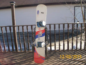 Snowboard with boots & bindings