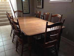 Harvest table & 14 chairs