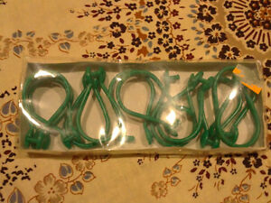 Pack of 12 green coloured shower curtain hooks London Ontario image 1