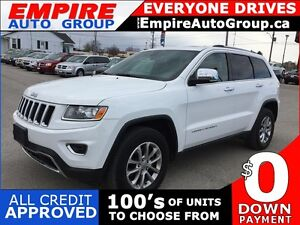 2014 JEEP GRAND CHEROKEE LIMITED * 4WD * LEATHER * SUNROOF * REA