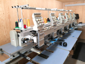 Machine à broder / Embroidery machine Barudan BENSME-ZN-6