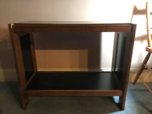 Side Table/TV Shelf with Glass Sides