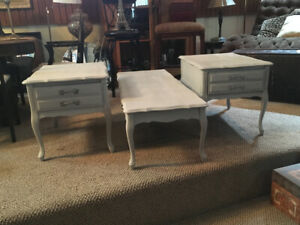 French Provincial Coffee Table and 2 Side Tables