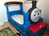 Thomas the tank engine little tikes toddler / children's bed with mattress