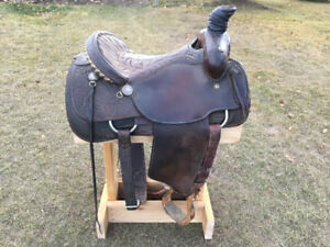 "16.5"" Custom Vic Bennett Rope Saddle"