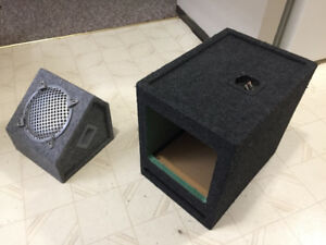 8 inch neon sub box and 10 inch square kicker box