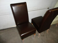 New leather chairs