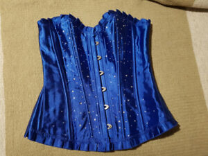 Royal blue Corset with rhinestones