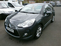 Citroen DS3 1.6e-HDi ( 90bhp ) Airdream DStyle only 12000 miles FSH £0 TAX