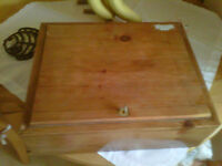 Locked Wooden Cash Box