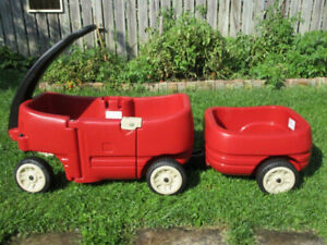 Step2 Pull Wagon for Two -- with Tag Along Trailer