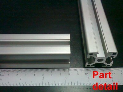 Aluminum T-slot 3030 Extruded Profile 30x30-8 Length 1500mm 60 4 Pieces Set