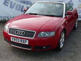 2003 AUDI A4 2.4 SPORT 2DR CONVERTIBLE PARKING SENSORS! FOG LIGHTS! RECENT RESPR