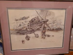 M Anderson print B 90 petite Brogel ww2 plane serviced