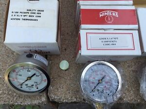 Winters Thermogauges / Pressure Gauges. Brand New. West Island Greater Montréal image 4