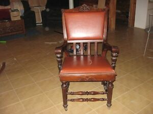 Solid Wood Decorative Leather Chair London Ontario image 4