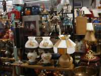 Antique, vintage and new LAMPS