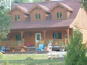 Confederation Log Home on Waterfront Property!!