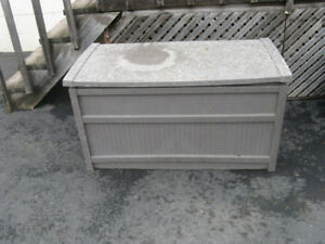 storage bin for cushions - well used