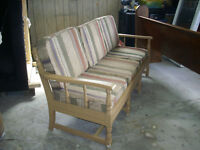 Wood frame couch,