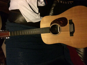 12 string Martin electric acoustic
