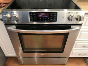 LG Stove Convection Stainless (plus all 5  household appliances)