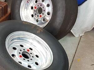 (2) 15x9 weld wheel draglites   mopar chev ford