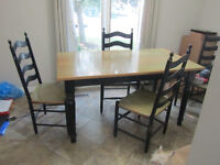 Solid Birch Dining Table & 6 Chairs