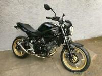 New Suzuki SV650 R special, gloss black with gold wheels, tail tidy, Lextek can