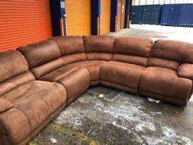 Harveys Sandbrige Corner reclining sofa very slight mismatch