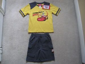 Disney Cars Shirt And Shorts Set (Brand New With Tag)