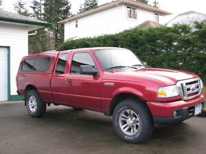 2007 Ford Ranger 4x4 Pickup Truck, matching canopy