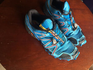 Saloman Speed Cross Trail Running Shoes Men's size 10.5