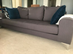 3 Seater Sofa KENT by Structube *AS NEW*!  Beautiful Dark Grey