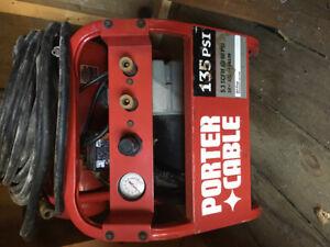 Compressor and hardwood stapler