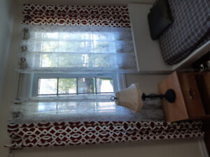 5 Sets Beautiful Curtains with Bars and Brackets