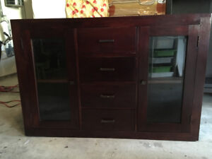 Indonesian solid rose wood hutch